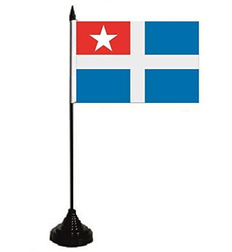 U24 Tischflagge Kreta Fahne Flagge Tischfahne 10 x 15 cm