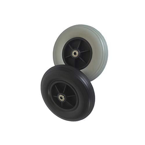 Gnova 200 X 50 mm Ruedas Delanteras para Silla de Ruedas,PU Rueda,sin Inflado,Neumático Sólido,Rodamiento de Acero,1 Par(2 Piezas)