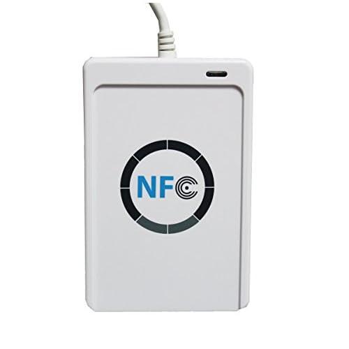 Yosoo Lettore di schede NFC ACR122 ACR122U intelligente senza contatto/SDK + 5 x USB della scheda IC di Windows 2000 Professional,Android, ISO 14443, CE,FCC,KC,VCCI,PC/SC,CCID, USB