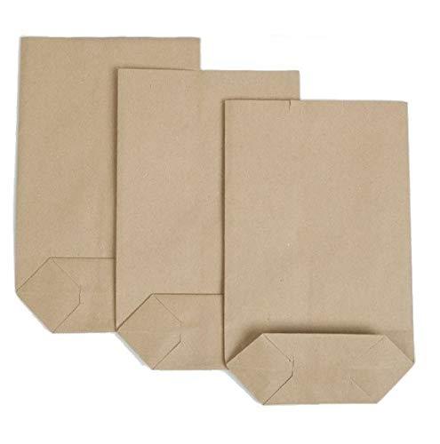 100 piezas de bolsas de papel Kraft (cruzadas) 265 mm / 210 mm, bolsas de papel para tiendas y puestos de verduras, frutas y comestibles, bolsas de frutas orgánicas