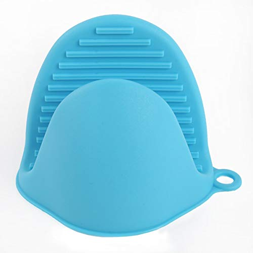 Monlladek Silikon-Verbrühungsschutzclip, Silikon-Verbrühungsschutzhandschuhe Geschirrhalter Küchenisolationsschale Schüssel Schüssel Backofen mit Handclip (blau)