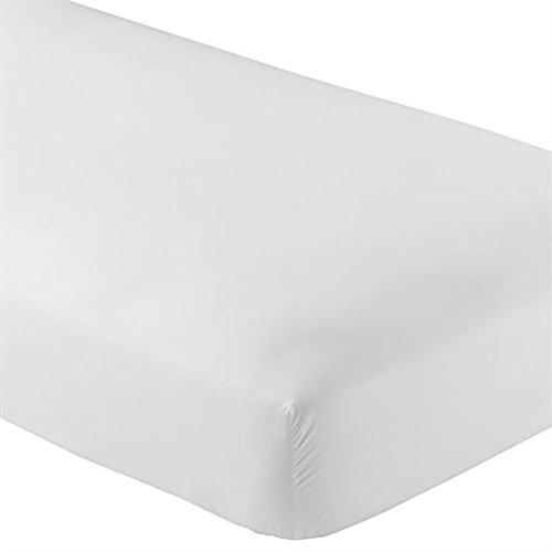 Crescent Bedding Twin Extra Long Fitted Sheet Only - Soft & Comfy 100% Cotton (Twin XL, White)