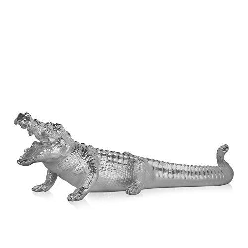 World Art TW60424 Sculpture en Résine Crocodile Grand, Résine, 24x25x84 Cm