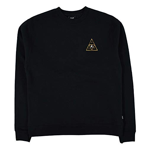 HUF Year of The Rat Triple Triangle Pullover Crew schwarz Gr. Medium, Schwarz
