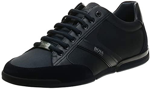 Hugo Boss BOSS Green Men's Saturn Profile Low Top Sneaker, Dark Blue, 11 M US
