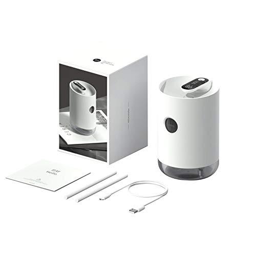 Humidificador creativo simple USB recargable de gran capacidad portátil humidificador led de potencia de la pantalla del humidificador