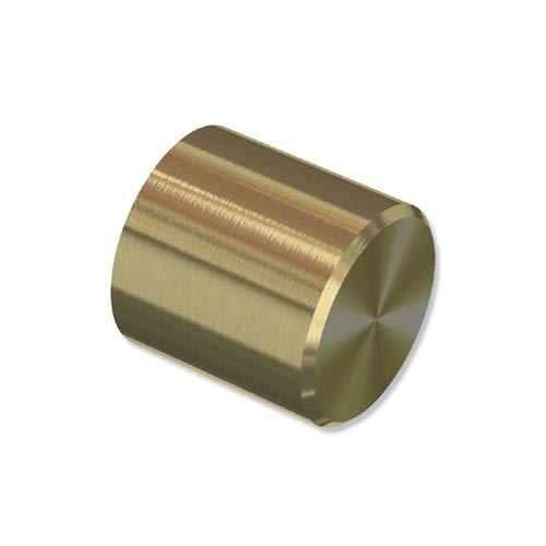 INTERDECO Endstücke Kappe Messing-Optik aus Metall für Gardinenstangen 20 mm Ø (2 Stück)