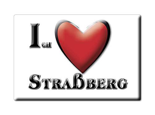 Enjoymagnets STRAßBERG (by) Souvenir Deutschland Bayern Fridge Magnet KÜHLSCHRANK Magnet ICH Liebe I Love