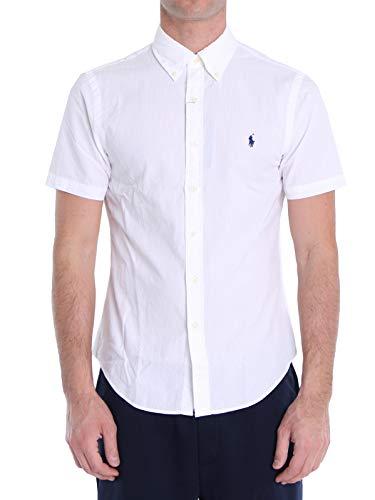 Polo Ralph Lauren Mod. 710795252 Hemd Seersucker Slim Fit Herren Weiß L