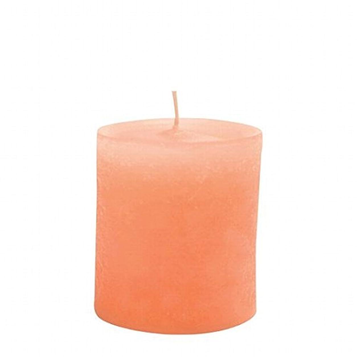デッドロック退屈なかごカメヤマキャンドル(kameyama candle) ラスティクピラー70×75 「 オレンジ 」