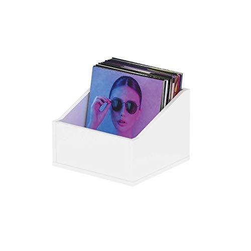 Glorious Record Box advanced white 110 - bis zu 110 Platten im 12''-Format, optisch abgestimmt, Lieferung ohne Dekoration, weiß