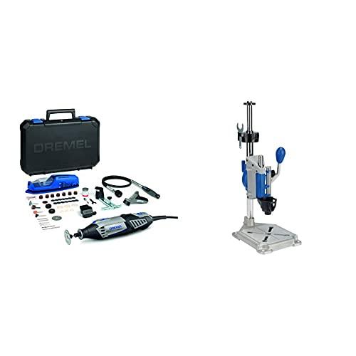 Dremel 4000-4/65 EZ - Pack multiherramienta, eje flexible, cortadora y 65 accesorios + Dremel Workstation - Centro de trabajo para Dremel