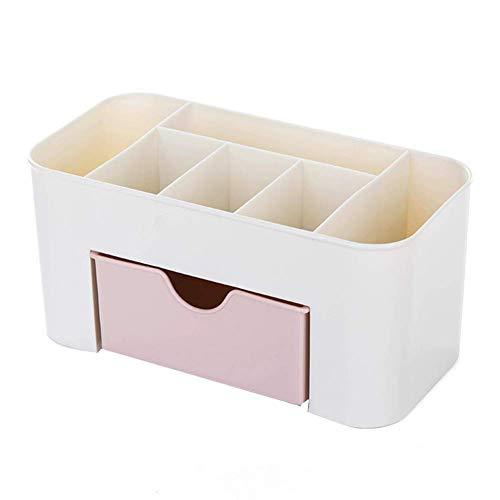 Joyero de escritorio, caja organizadora de maquillaje, maletín de almacenamiento, portátil, ligero, bolsa de cosméticos, pendientes, pulsera, anillos, collar, mujer, color rosa, moderno y elegante