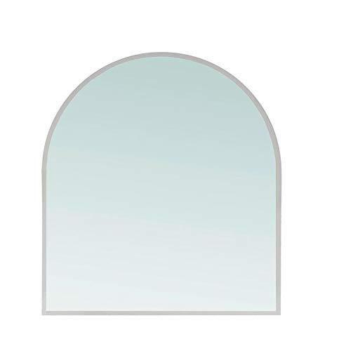 Glasplatte für Kaminofen 100 x 80 cm - Glasscheibe mit 6mm ESG Sicherheitsglas - perfekt geeignet als Funkenschutzplatte - Rundbogen, Klar