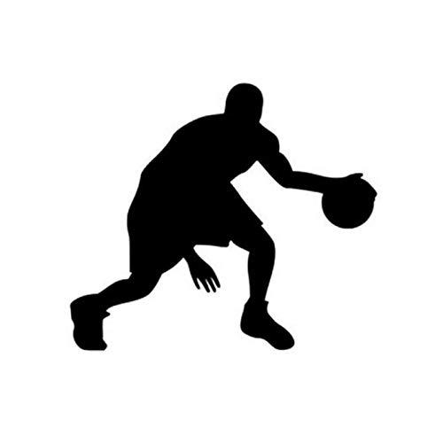 ZQZL Patrón Divertido Jugador de Baloncesto Pegatina Motocicleta Impermeable Vinilo Coche calcomanía 14,5 * 12,7 CM