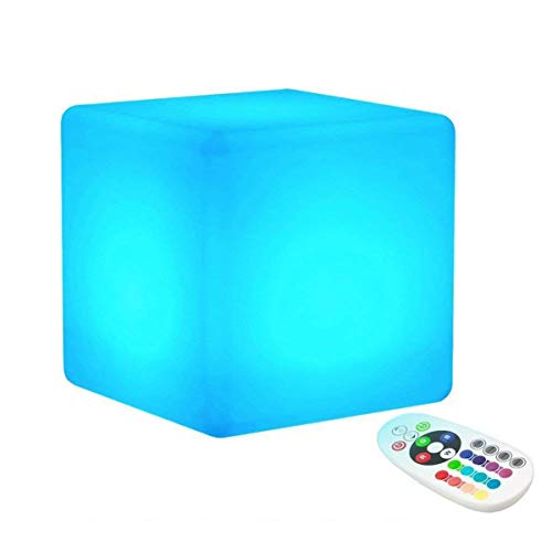 KEEDA Éclairage d'Ambiance Lampe/Lampe d'Ambiance,Cube Lumineuse LED, Lampe Cube, Décorative Lumineuse, Lampe Déco et Veilleuse,Lampe de Phénomène,Télécommande, 16 Change de Couleurs (15x15x15cm)