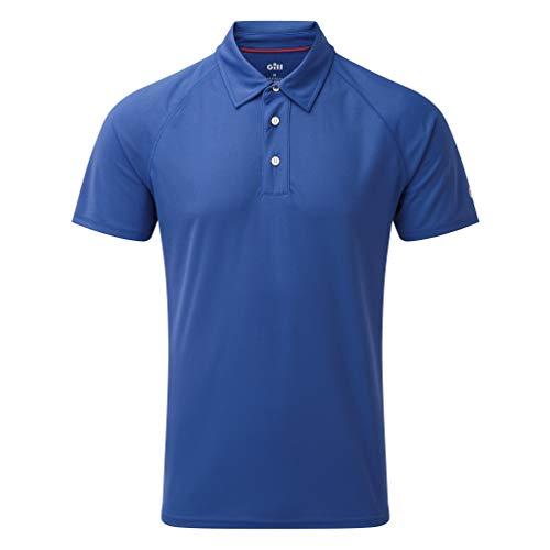 Gill Mens UV Tec Polo Top Blue - Légère Protection Solaire UV et propriétés SPF