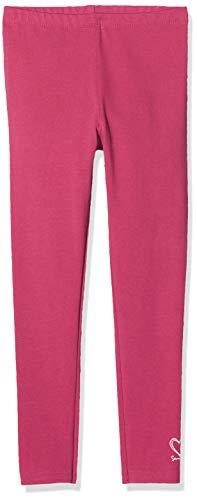 Sanetta Mädchen Leggings Hose, Rot (Azalea 3691), (Herstellergröße: 128)