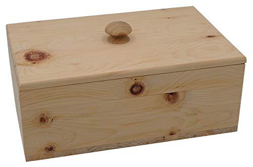 JOWE® Brotdose aus Zirbe | Zirbenbrotdose | Brotkasten aus Zirbenholz | Rechteckig mit Schwalbenschwanzverbindung