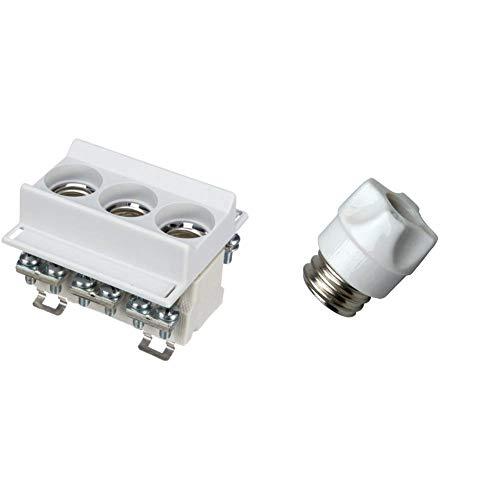 Unitec 46318L Neozed Sicherungssockel 3-polig & Kopp 213400091 Schraubkappe für Sicherungseinsatz (5-Stück) D 02 Sockel E18, 35-63 A