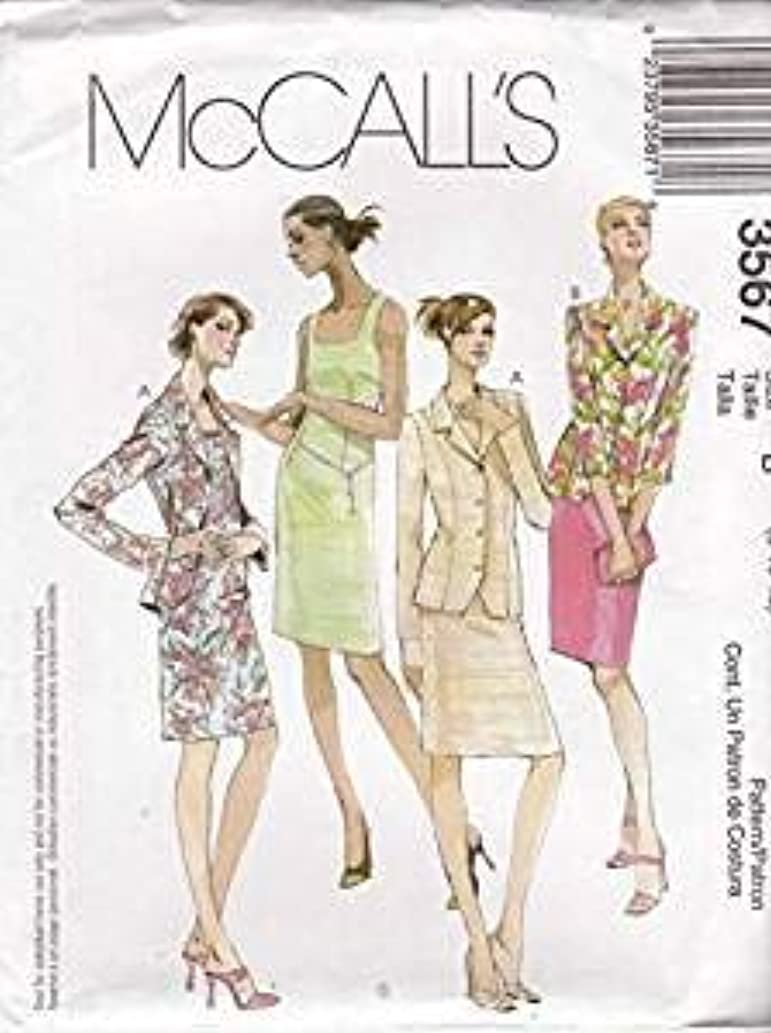 Sewing Pattern Sleeveless Dress and Lined Jacket Size 18 20 22 24 McCall's 3567 Square Neckline Back Slit