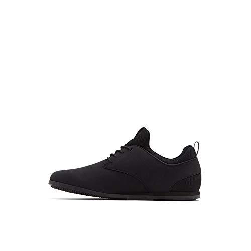 Aldo Men's Preilia Sneaker, Black Smooth, 8 UK