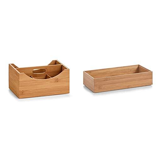 Zeller Ordnungsbox, Natur, 25 x 18 x 12 cm & 13333 Ordnungsbox 30 x 15 x 7 cm, Bamboo