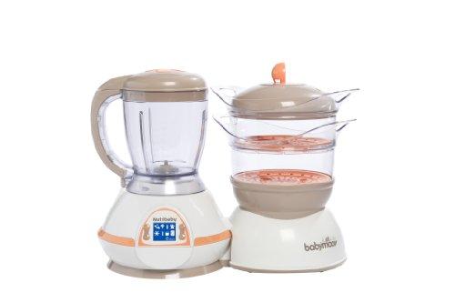 Babymoov Nutribaby Albaricoque - Robot de cocina 5 en 1 (calienta biberones, esteriliza, cuece al vapor, tritura, descongela)