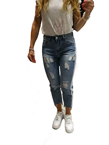 jeans donna farfallina Farfallina Jeans Cotone Strisce sui Lati