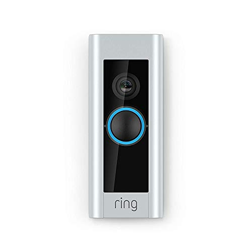 Ring Video Doorbell Pro con cableado, incluye un Chime (1.ª generación), resolución HD 1080p, comunicación bidireccional, wifi, detección de movimiento | Prueba de 30 días gratis del plan Ring Protect