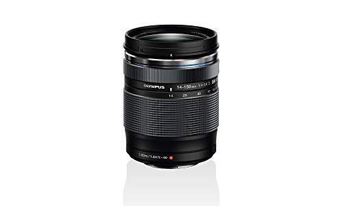 Objetivo Olympus M.Zuiko Digital ED 14 - 150mm F4 - 5.6 II, zoom estándar, adecuado para todas las cámaras MFT (modelos Olympus OM-D & PEN, serie G de Panasonic), negro