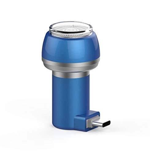 JUNSHUO Voyage Rasoir électrique pour Hommes Femmes,Portable Rasoir de Téléphone,Mini épilation de Rasoir (Bleu Type-C)