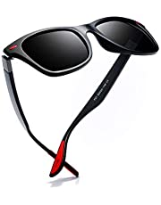 Kimorn Men's Polarized Sunglasses Driving Square Frame Classic K0622