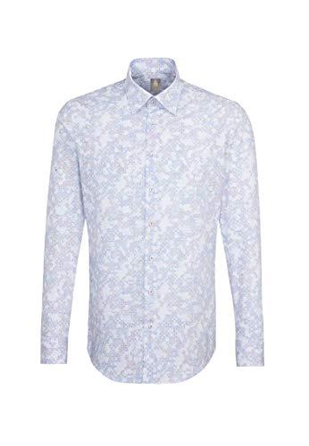 Jacques Britt Herren Business Hemd Custom Fit Langarm Under-Button-Down-Kragen Bügelleicht