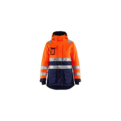 Blaklader - Parka hiver haute-visibilité femme - 5389 Orange fluo/Marine