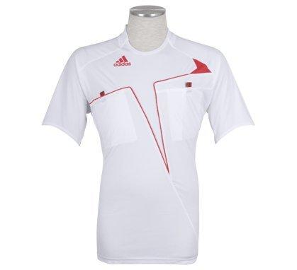 adidas CL Camiseta de árbitro S/S, weiß - rot