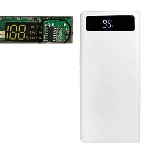 Aawsome Dual USB LED Light 8X 18650 Akku DIY Power Bank Box Halter für Handy Round: diameter: 4cm/1.57in Rectangular: 6 weiß