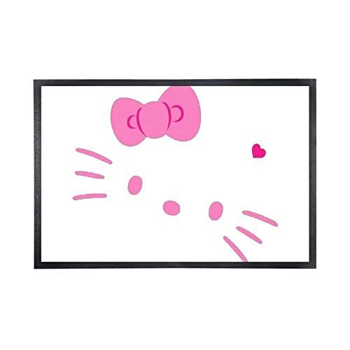 Alfombra de suelo no tejida, cómoda, alfombra de entrada de goma, alfombra de suelo, de Hello Kitty (15' × 25'), color negro
