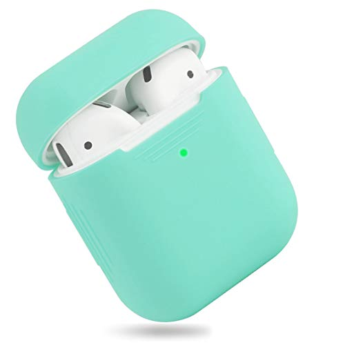 EYEKOP AirPods Case, Premium Ultra-Thin Soft Skin Cover Compatible with Apple AirPods 2 & 1 - Mint Green