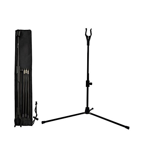 Yls Archery Bow Stand Recurve Bow Compound Bow Stand Rack Holder Legs 18.9' Height Black Color