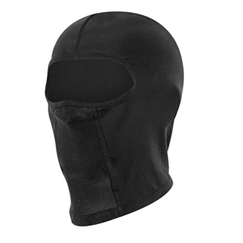 ABCDJHH Gorro de seda para bicicleta, con gafas, agujero para motocicleta, color negro, con gafas, malla transpirable, multiusos, resistente al viento, para motocicleta
