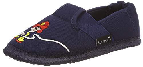 Nanga Jungen Jungen-Hausschuhe Feuerwehr dunkelblau 28
