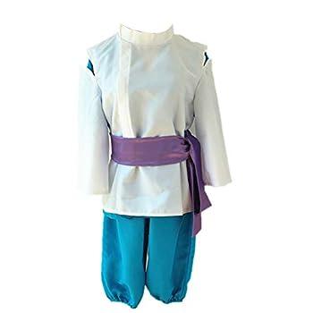 Ilovcomic Spirited Away Cosplay Costume Haku White&Blue Kimono  Medium