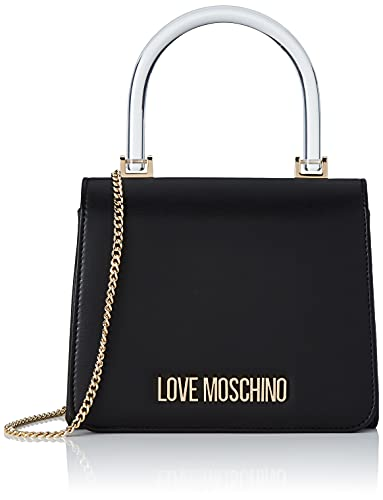 Love Moschino Donna, Borsa a Spalla, Pre Collezione Autunno Inverno 2021, Nero, U