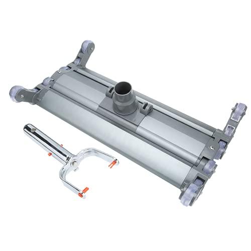 WESE Limpiador de Piscina, Adaptador de Tubo de succión de 1,5 Pulgadas / 2 Pulgadas Cabezal de aspiración de Piscina 360 ° sin rotación de ángulo Muerto para Piscina