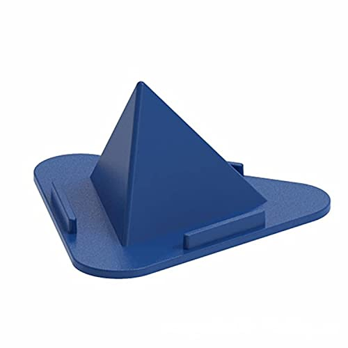 Portable Pyramid Shape Mobile Stand For ZTE Axon 20 5G Extreme Three-Sided Pyramid Angle Shape Adjustable Mobile Cell Phone Desktop Holder Mobile Heavy Duty / universal mobile stand Lazy Bracket Stand Flexible Clip Mount clamp All Smartphones Multi Angle Stand iPhone, Android, Foldable Perfect Bed, Office, Table, Home, Gift Desktop – Mix
