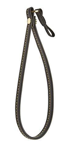 Black Faux Leather Wrist Strap