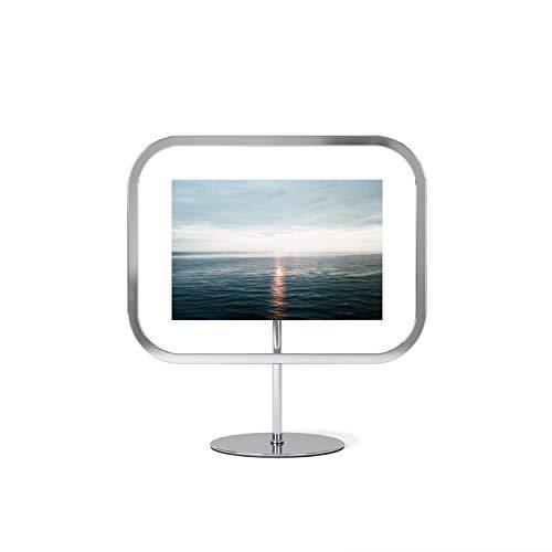 Umbra Infinity Sqround 10 x 15 cm Bilderrahmen zum Aufstellen oder Aufhängen, Metall, Chrom, normal