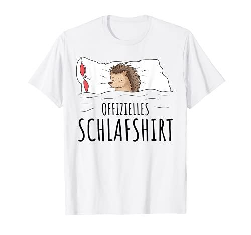 Offizielles Schlafshirt Igel Schlafen Chillen T-Shirt