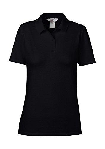 anvil Damen Fashion Basic Polo Piqué / 6280L, Einfarbig, Gr. 44 (Herstellergröße: L), Schwarz (BLA-Black 036)